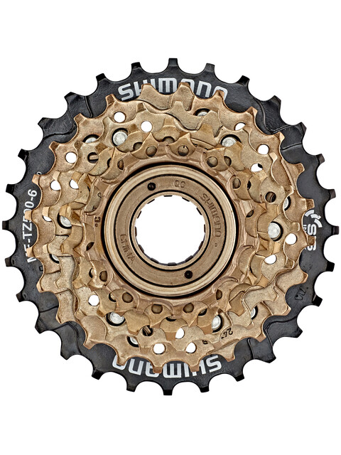 Shimano MF-TZ500 Cassette 6-fold brown/black
